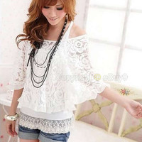 Women Ladies Lace Top Se...