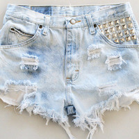 Custom HighWasted denim shorts by BohoChildGarments on Etsy