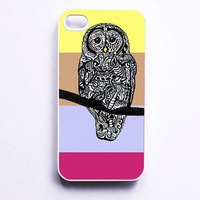 iPhone 4 Case  Barred Owl Zentangle Art by MayhemHere on Etsy