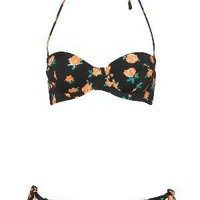 Black Rose Underwired Bikini - Swimwear - Apparel - Topshop USA