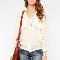 Big Pocket Dolman Top in Peach :: tobi