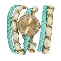 Chiffon Chain Wrap Watch | Shop Trending Now at Wet Seal