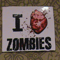Walking Dead Zombies I Heart Zombies Magnet | Luulla