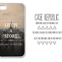 Apple iPhone 4 5  Ipod iTouch 5 Samsung Galaxy S3 Case Cover Life is A Story Quote  Design
