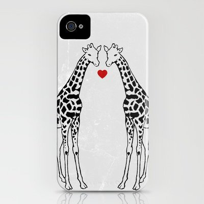 Giraffe Love iPhone Case by Jacqueline Maldonado | Society6