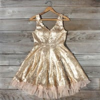 Dazzling Dusk Party Dress, Sweet Women's Vintage and Bohemian Clothing