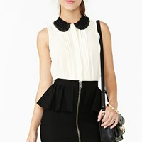 Silent Echo Peplum Skirt