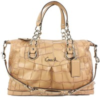 # Coach Ashley Embossed Exotic Satchel Camel 17660