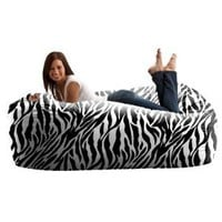 Amazon.com: Six Foot Zebra Media Lounger: Home & Kitchen