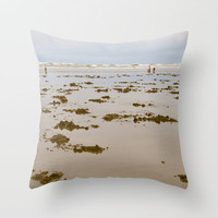 In Search of Razor Clams Throw Pillow by Upperleft Studios | Society6