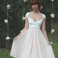 $124.99 Avalon Peach Chiffon Convertible Wrap Dress by CoralieBeatrix