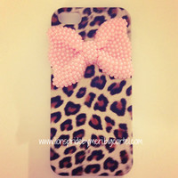 Lions Pride By Meri — Pearl Bow Cheetah iPhone 5 Case