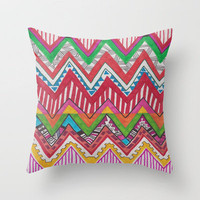 Peruvian Waves Throw Pillow by Vasare Nar | Society6