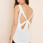 Bow Down Tank - Ivory in  What&#x27;s New at Nasty Gal