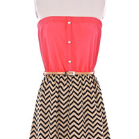 Chevron ZIG ZAG Print Ne...