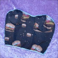 galaxy burger bustier crop top