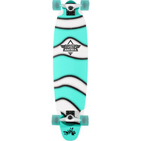 Dusters Demo Turquoise & White 37.5 Complete Longboard