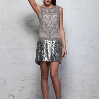 Was £140 Silver 1920s Style Flapper Dress from Rock My Vintage