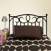 Wrought Iron Headboard Decal - Decals - Wall