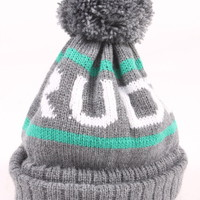 Grey/Mint Bobble Hat | Rudeboi Clothing