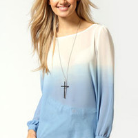 Hannah Dip Dye Chiffon Blouse