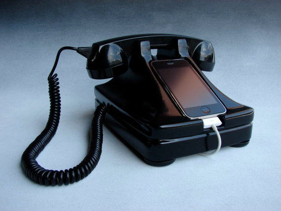 iRetrofone Classic Black by freelandstudios on Etsy