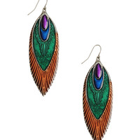 Glossy Feather Earrings | FOREVER21 - 1000039593