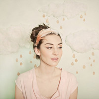 Ombre blush feather headband by mignonnehandmade on Etsy