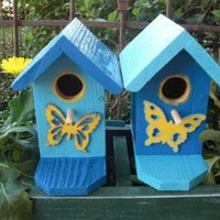 Birdhouse Small Butterfly by ABCbirdhouses on Zibbet