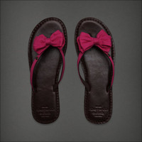 NWT ABERCROMBIE & FITCH women leather pink sandals flipflop shoes Large L 9 10
