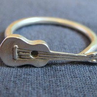 Ukulele Ring Made in Hawaii by Cabin No7 R01 by CabinNo7 on Etsy