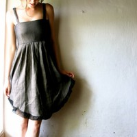 Linen party Dress Size Small by larimeloom on Etsy