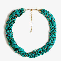 Braided Metallic Bead Necklace