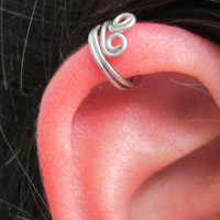 Double Spiral Ear Wrap Cuff, No Pierce