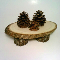 Rustic Wedding Cake Stand, Primitive Wedding Serving Tray Rustic Centerpiece Holder, Cupcake Tray,