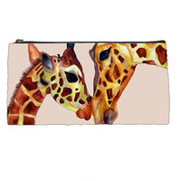 Back to School  Giraffe Pencil Case   by HeavenlyCreaturesArt