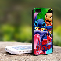 Lilo And Stitch Print on Hard Cover For iPhone 4/4S Case and iPhone 5 Case (Black, White, Clear Colour Case)