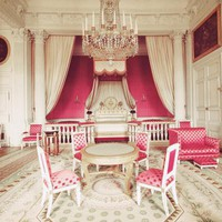 Princess Pink Chambers in Versailles Paris Travel Photography | Luulla