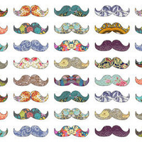 Mustache Mania Art Print by Bianca Green | Society6