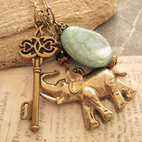 Key to Africa Safari a charm necklace by trinketsforkeeps on Etsy