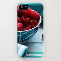 Ruby Delicious - Raspberry Still Life iPhone Case by micklyn | Society6