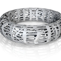 Wireframe Bracelet by ikreate on Shapeways