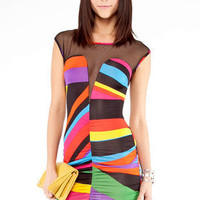 Candy Mash Dress in Black Multi :: tobi