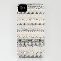 MONOTONE  GEOMETRIC ANIMAL PRINT  iPhone Case | Print Shop