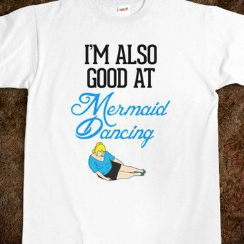 Mermaid Dancing-Unisex White T-Shirt