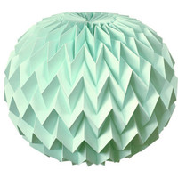 Bubble: Hanging Decorative Art / Origami Paper Ball - Mint