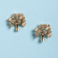 Growing, Growing, Gone Gold Tree Earrings