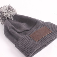 Simple Grey Bobble Hat | Rudeboi Clothing