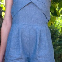 Divine In Denim Romper | Indie Retro Vintage Inspired Rompers| Poetrie