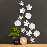 White Flower Wall Decor  White Blossoms Popup by StudioLiscious